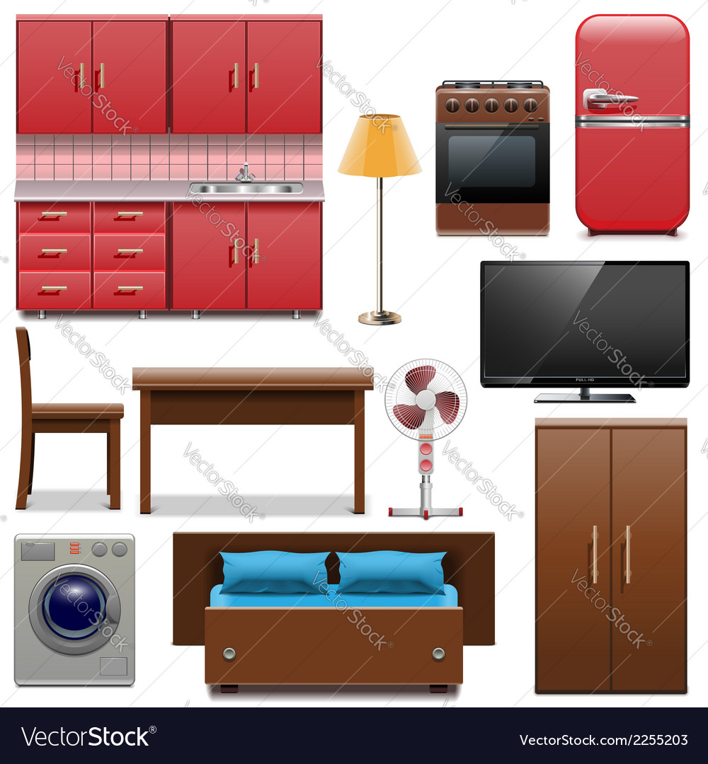 Furniture icons vector | Price: 3 Credit (USD $3)