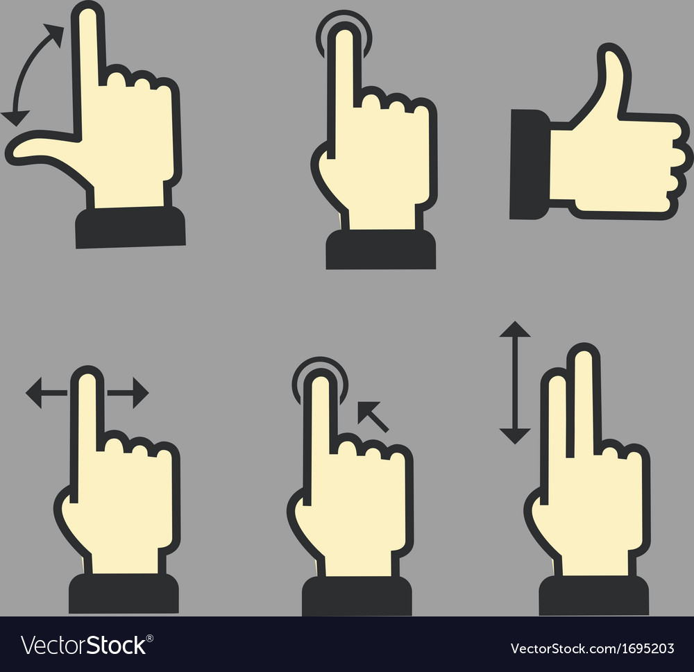 Guide with basic gestures vector | Price: 1 Credit (USD $1)