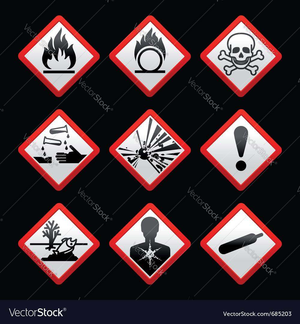 Hazard signs vector   Price: 1 Credit (USD $1)