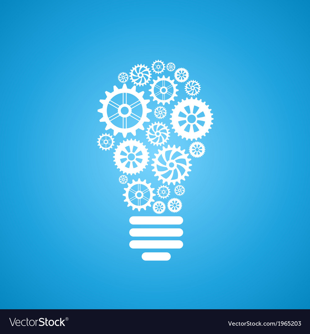 Light bulb of gears and cogs vector | Price: 1 Credit (USD $1)