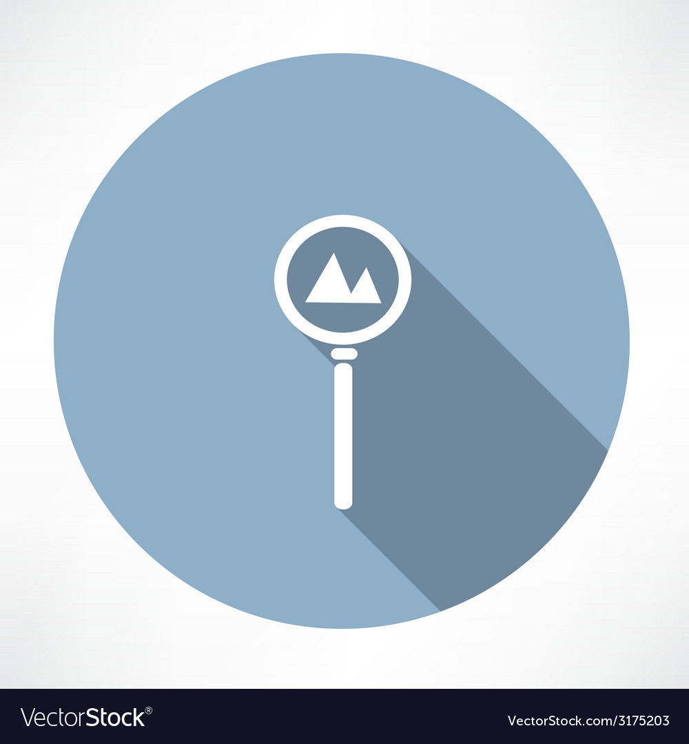 Road sign - the mountain icon vector | Price: 1 Credit (USD $1)