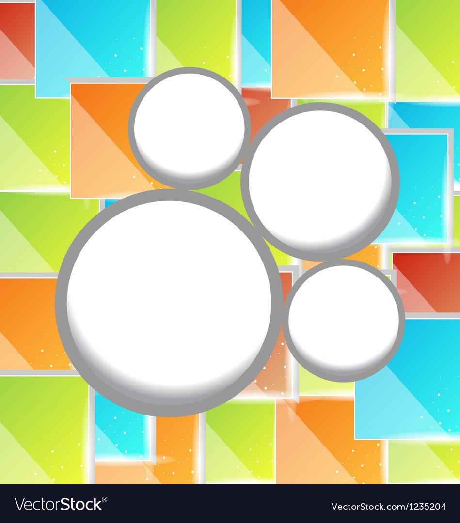 Abstract circle bubble colorful square background vector | Price: 1 Credit (USD $1)