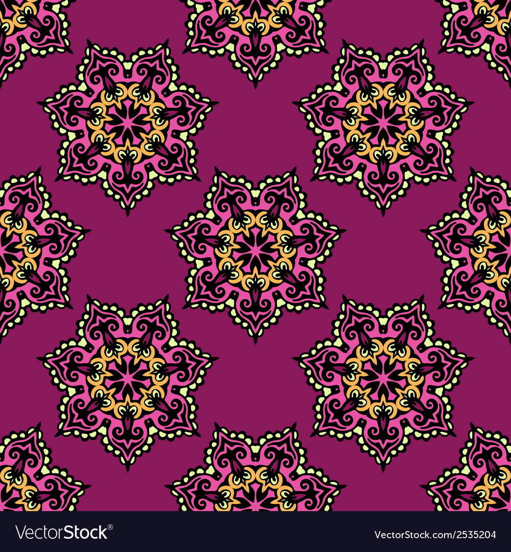 Abstract floral background seamless vector | Price: 1 Credit (USD $1)
