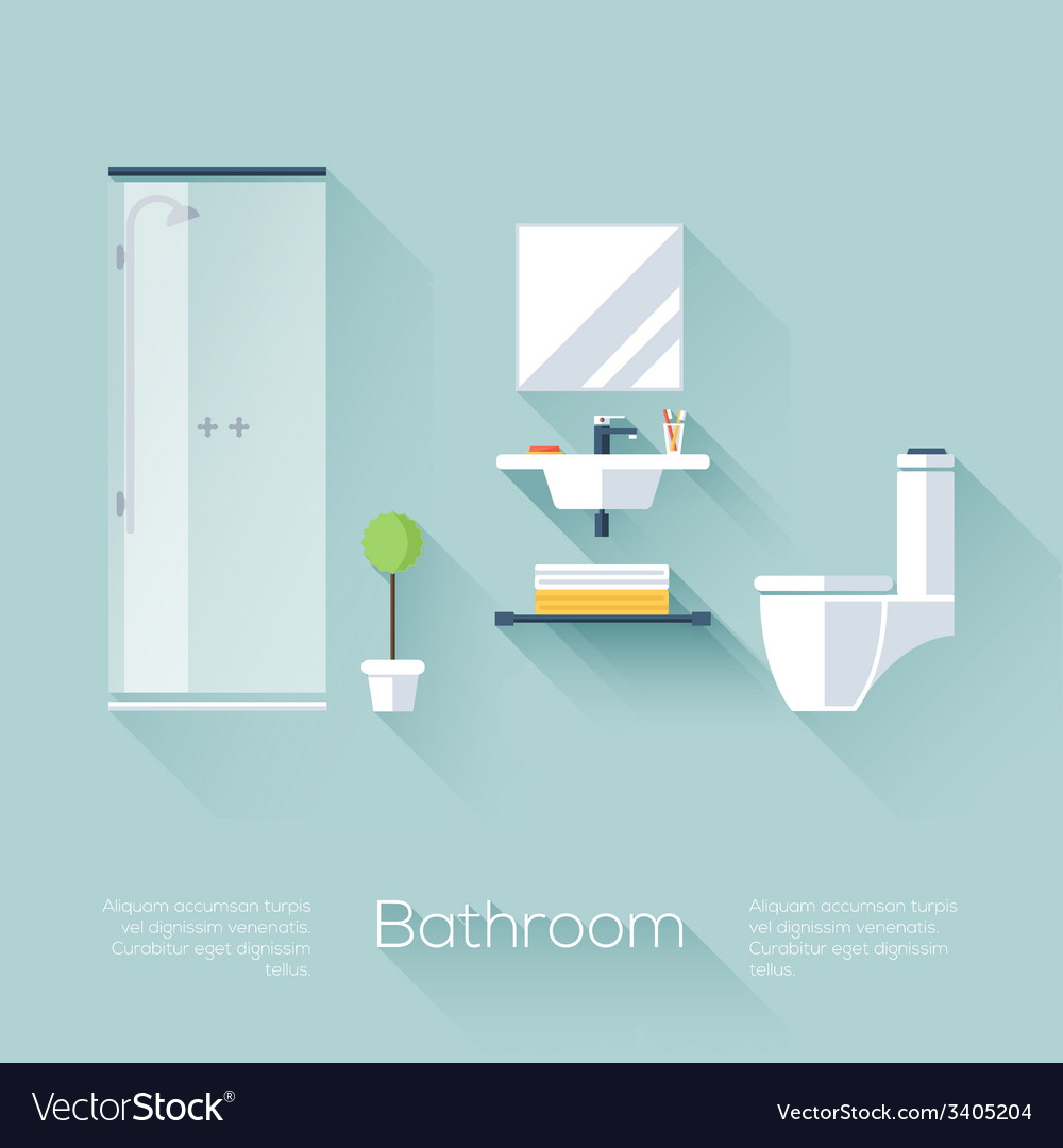 Bathroom cover vector | Price: 1 Credit (USD $1)