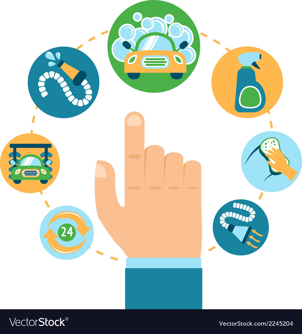 Car wash hand vector   Price: 1 Credit (USD $1)