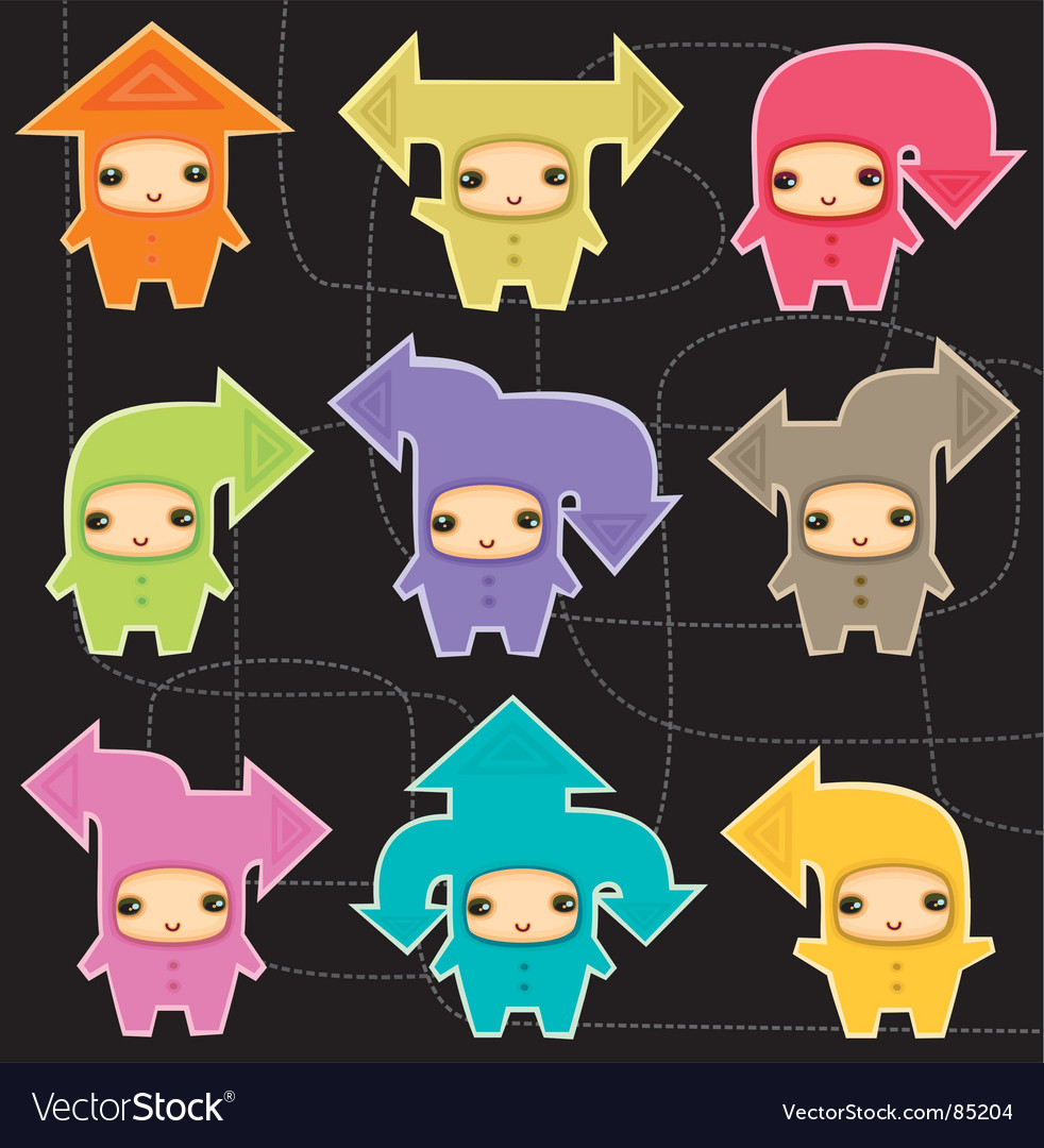 Cute arrow kids vector | Price: 1 Credit (USD $1)