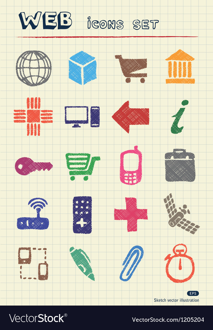 Finance and internet icons set vector | Price: 1 Credit (USD $1)