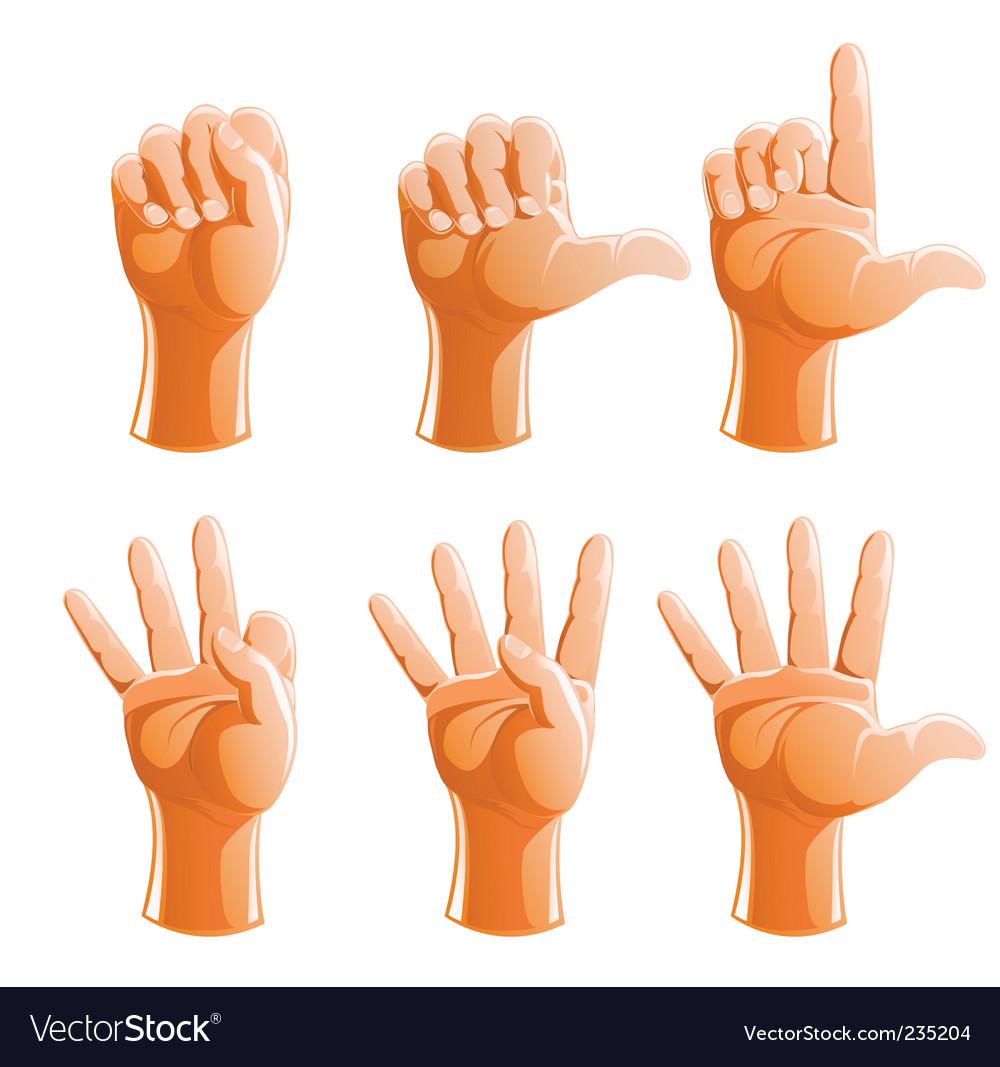 Gesture hand vector   Price: 3 Credit (USD $3)
