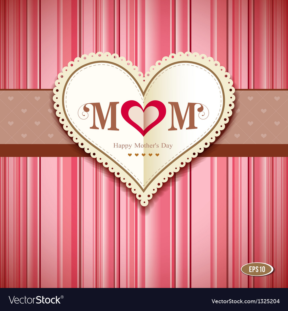 Happy mothers day greeting card vector   Price: 1 Credit (USD $1)