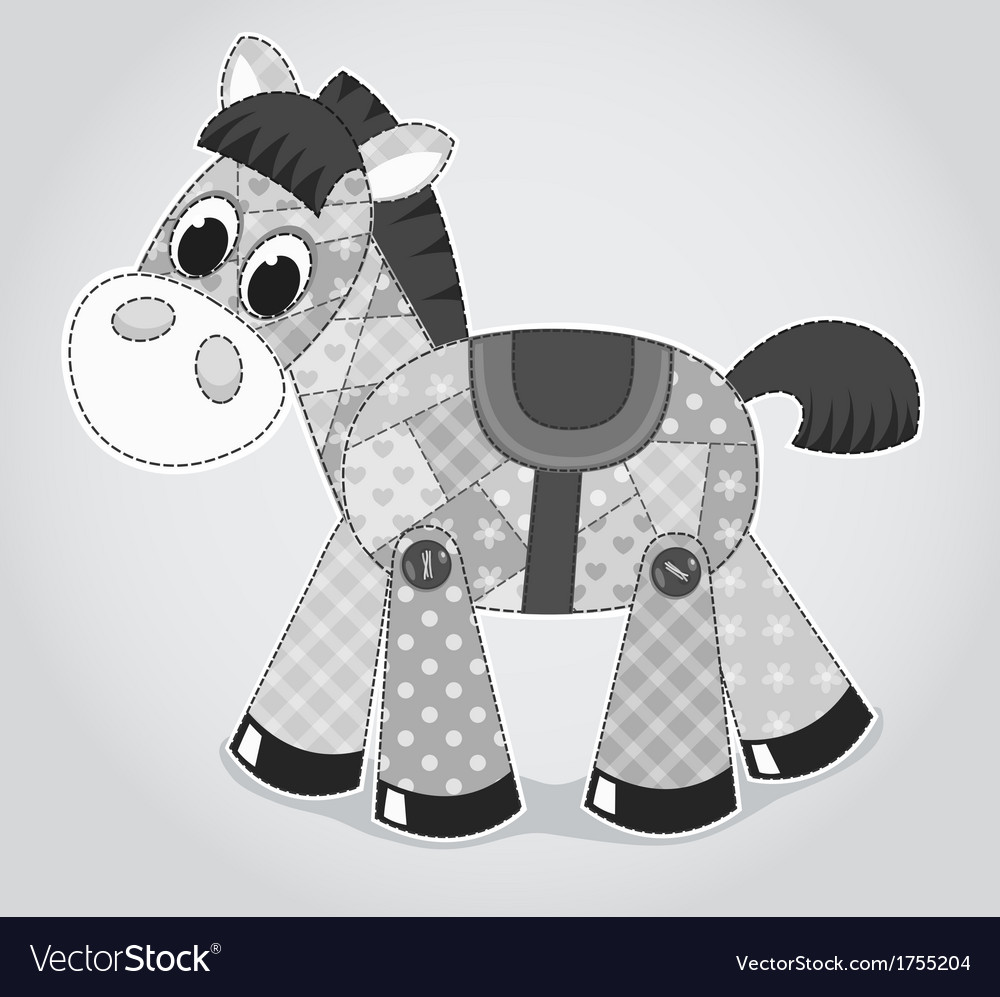 Horse old toy vector | Price: 1 Credit (USD $1)