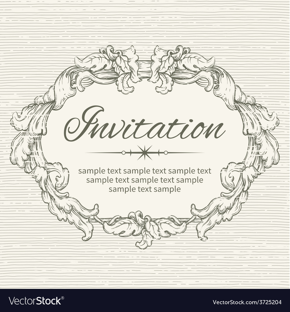Invitation vector | Price: 1 Credit (USD $1)