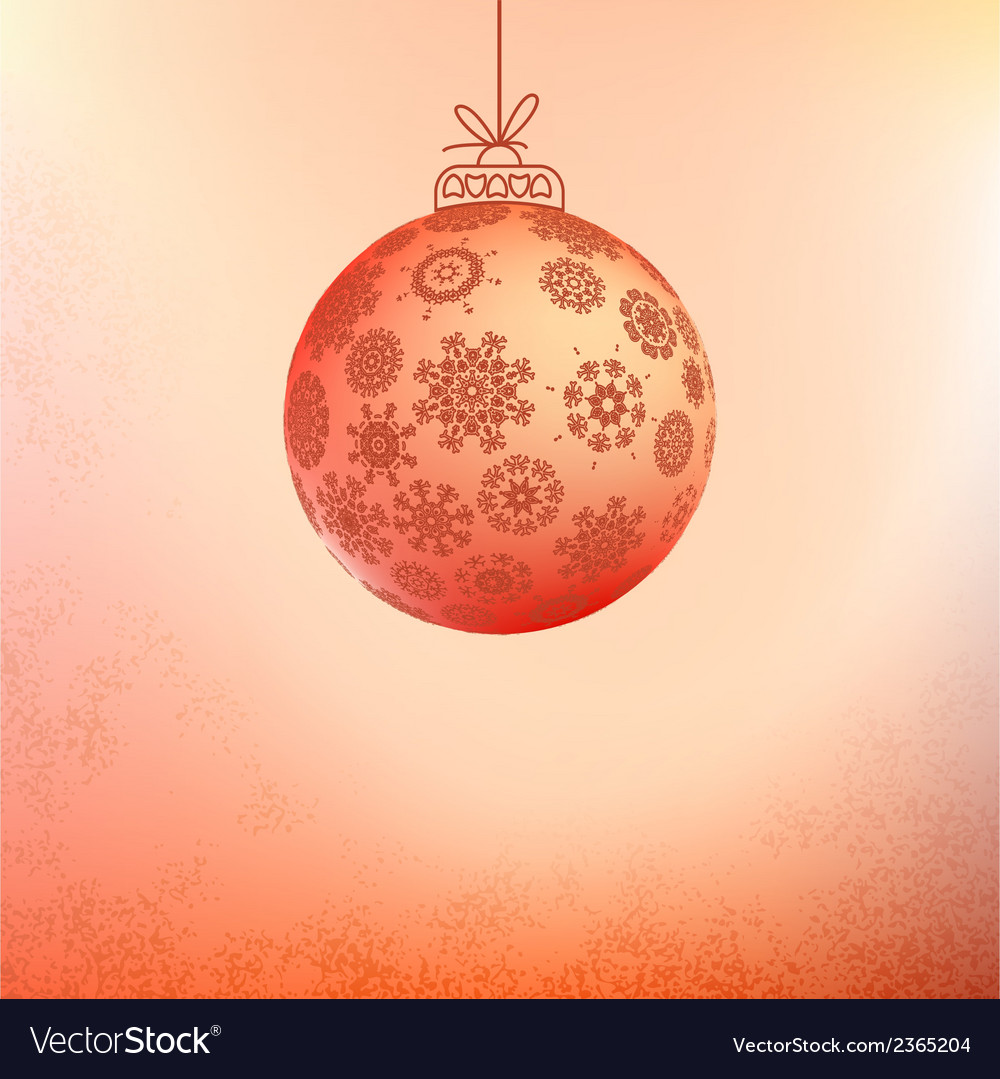 Red card with christmas balls  eps8 vector | Price: 1 Credit (USD $1)