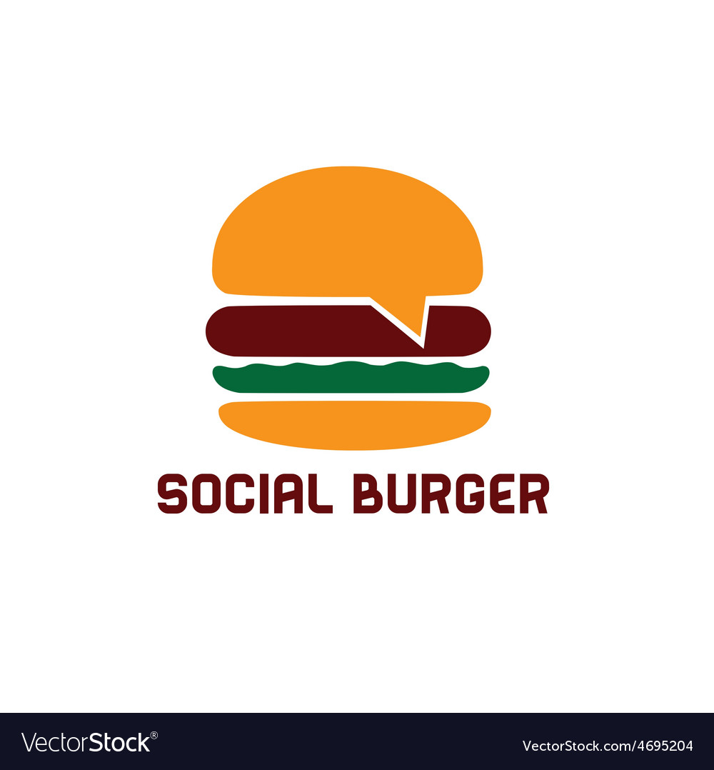 Social burger design template vector | Price: 1 Credit (USD $1)
