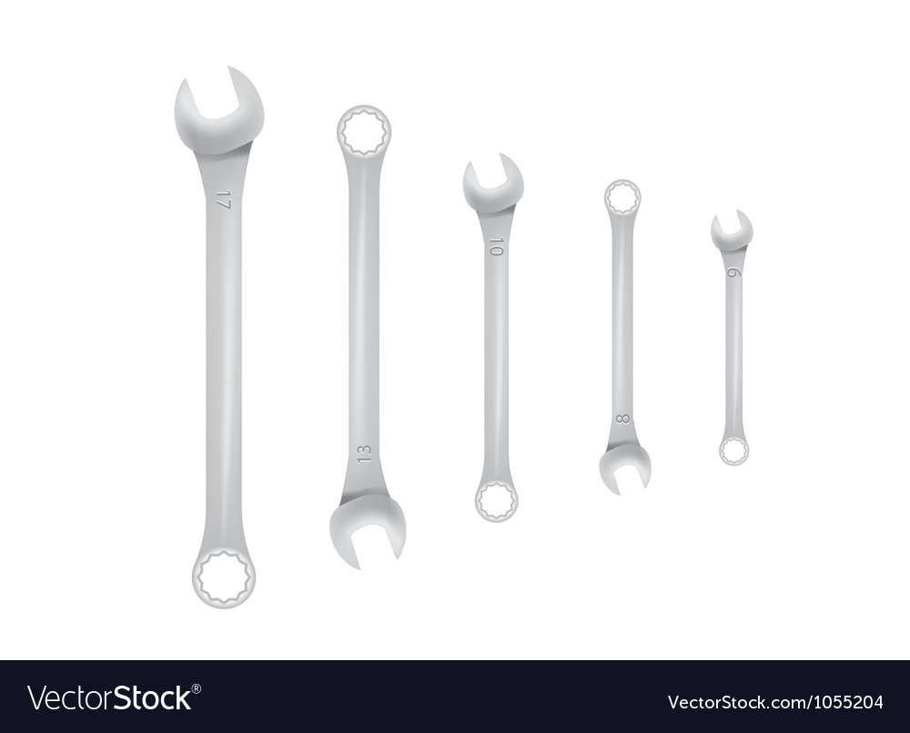 Spanner tools vector | Price: 1 Credit (USD $1)