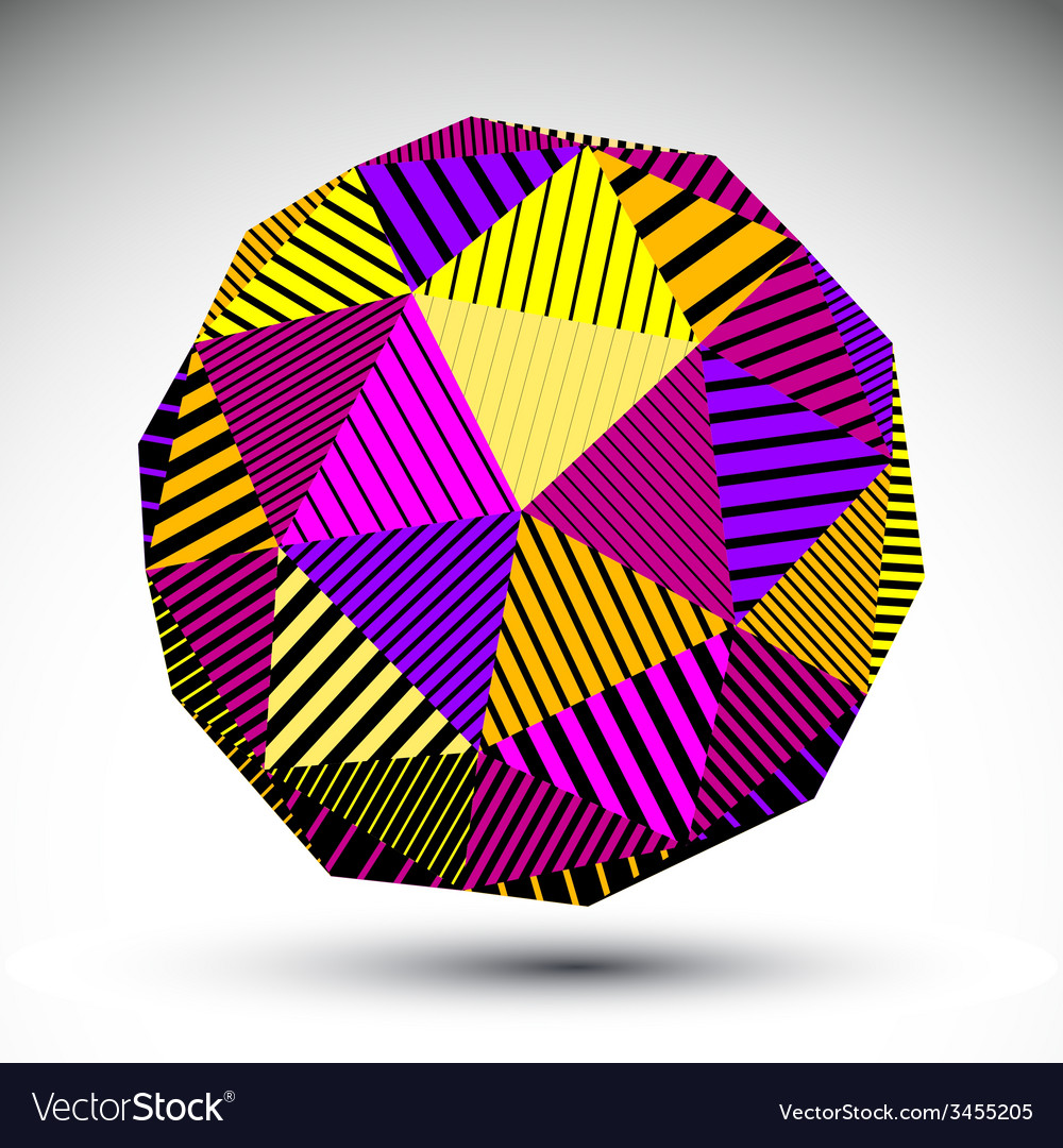 Bright symmetric spherical 3d technology co vector | Price: 1 Credit (USD $1)
