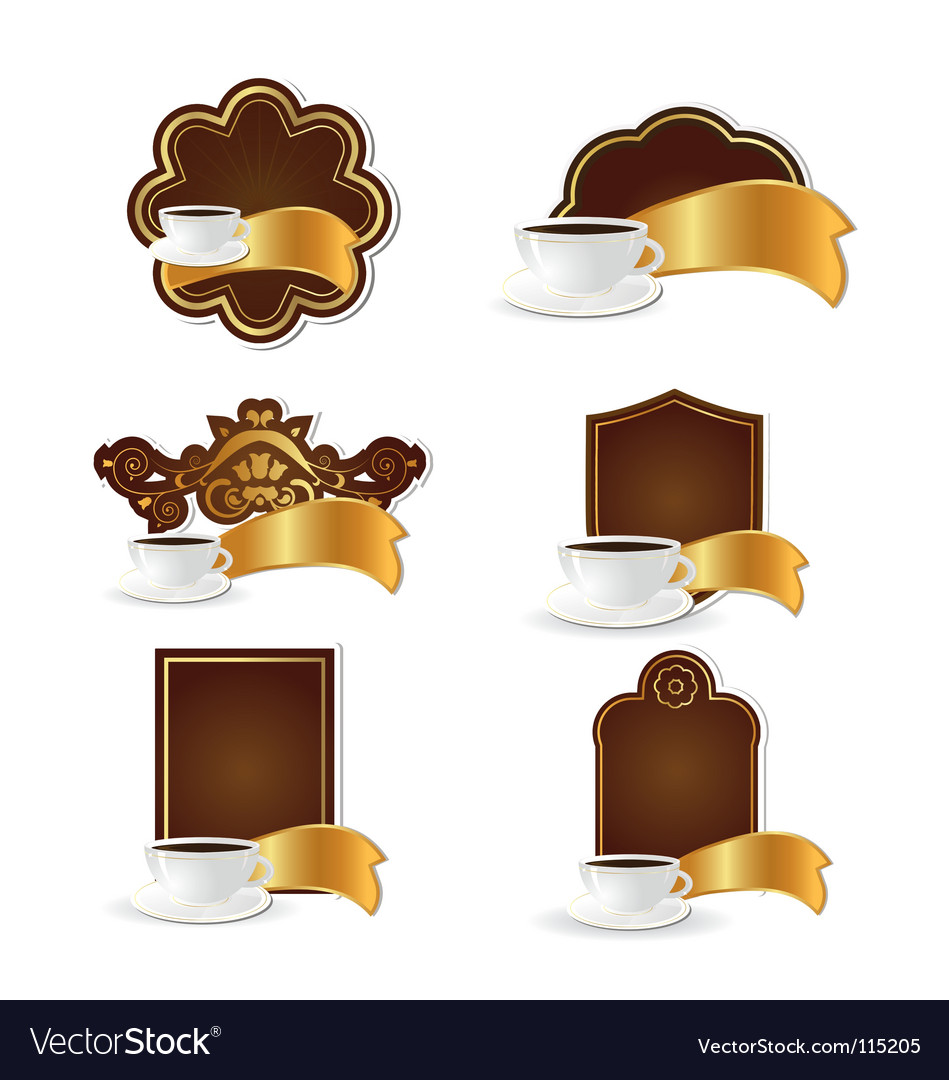 Coffee logos vector | Price: 1 Credit (USD $1)