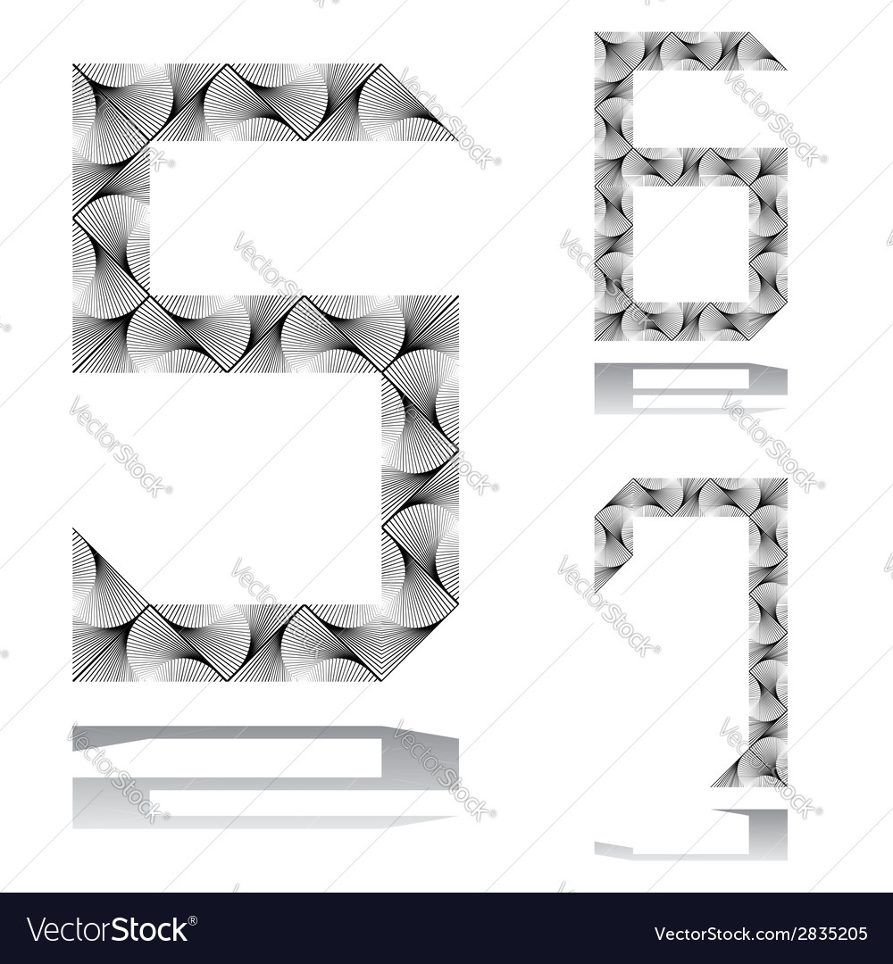 Design numbers set from 5 to 7 vector | Price: 1 Credit (USD $1)