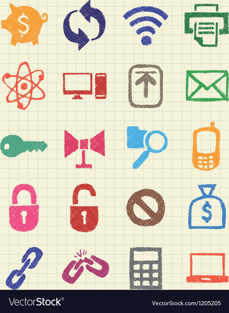 Finance and internet icons set vector   Price: 1 Credit (USD $1)