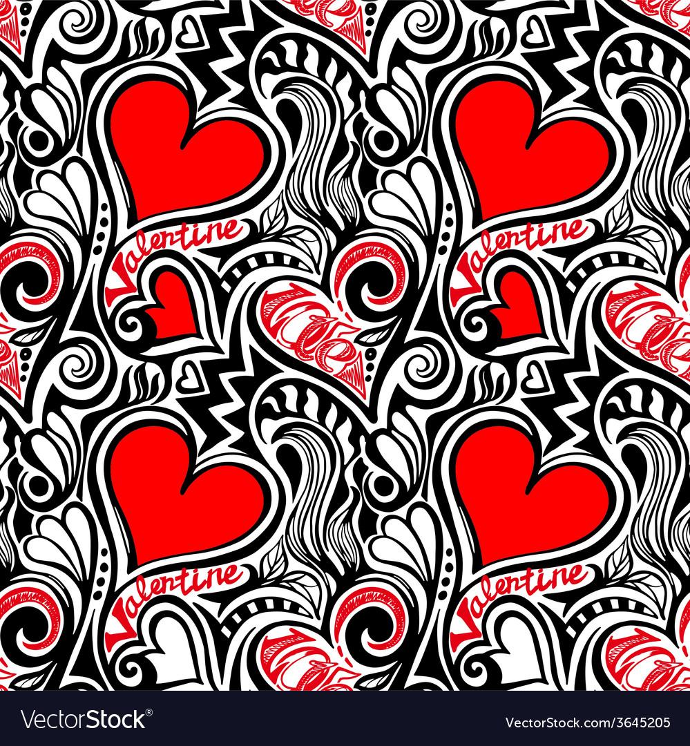 Love valentine seamless pattern vector | Price: 1 Credit (USD $1)