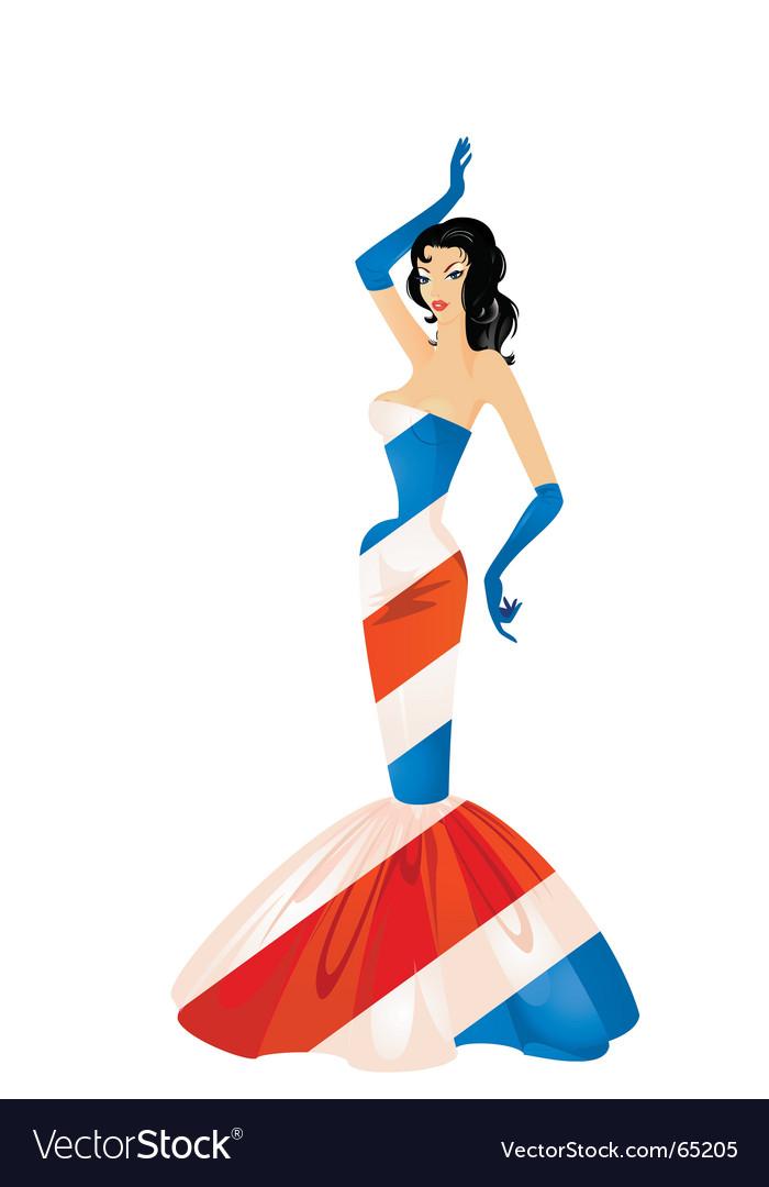 Patriotic woman vector | Price: 3 Credit (USD $3)