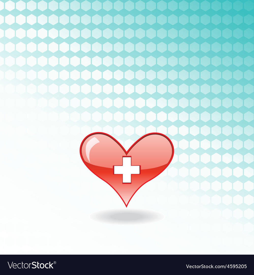 Red medical heart vector | Price: 1 Credit (USD $1)
