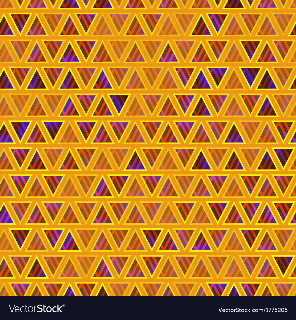 Seamless abstract triangles background vector | Price: 1 Credit (USD $1)