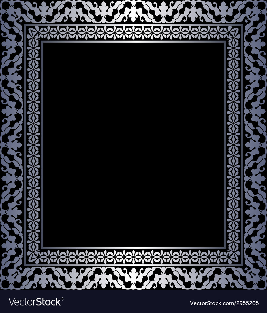 Silver frame vector | Price: 1 Credit (USD $1)