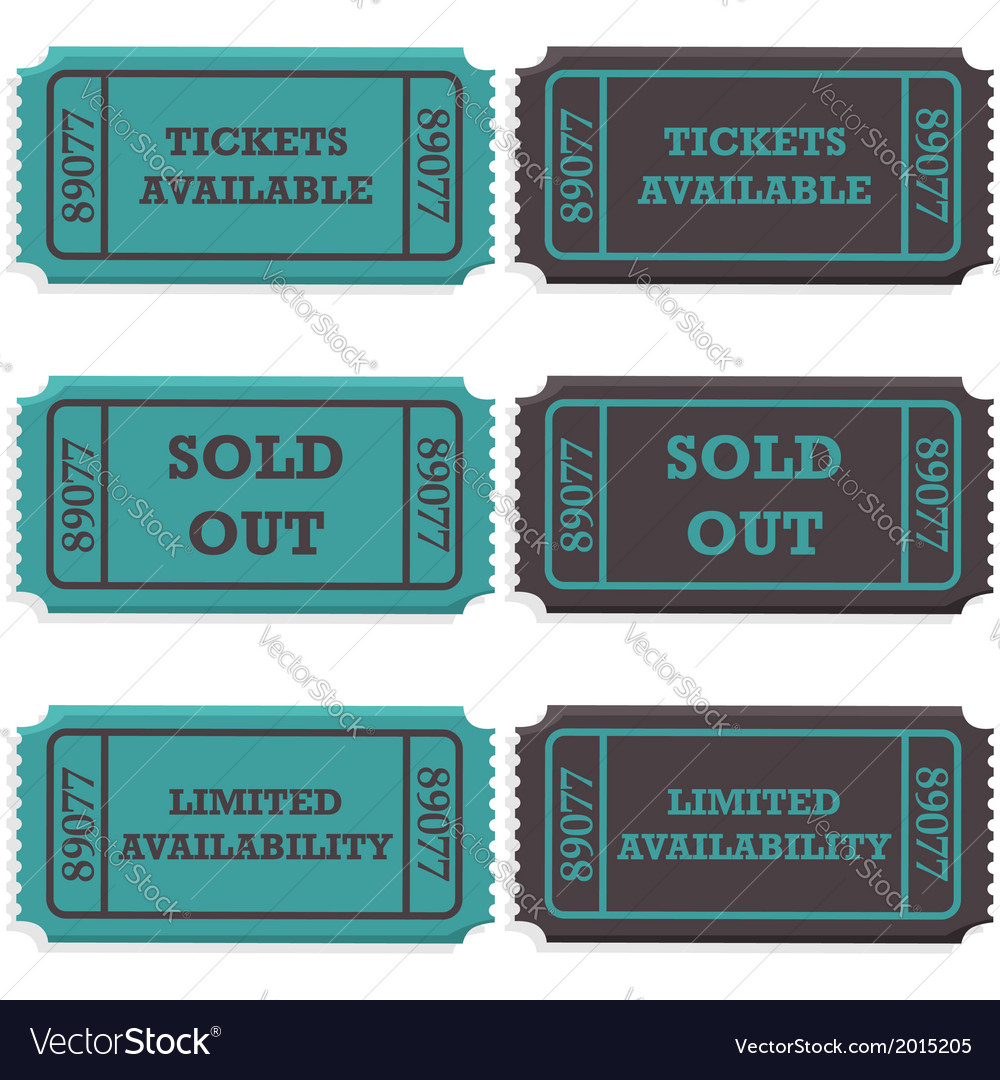 Ticket availability vector | Price: 1 Credit (USD $1)