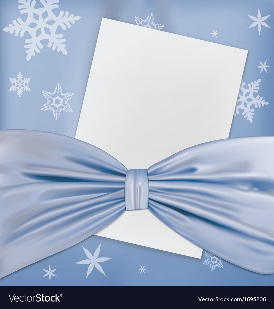 Blue bow paper vector | Price: 1 Credit (USD $1)