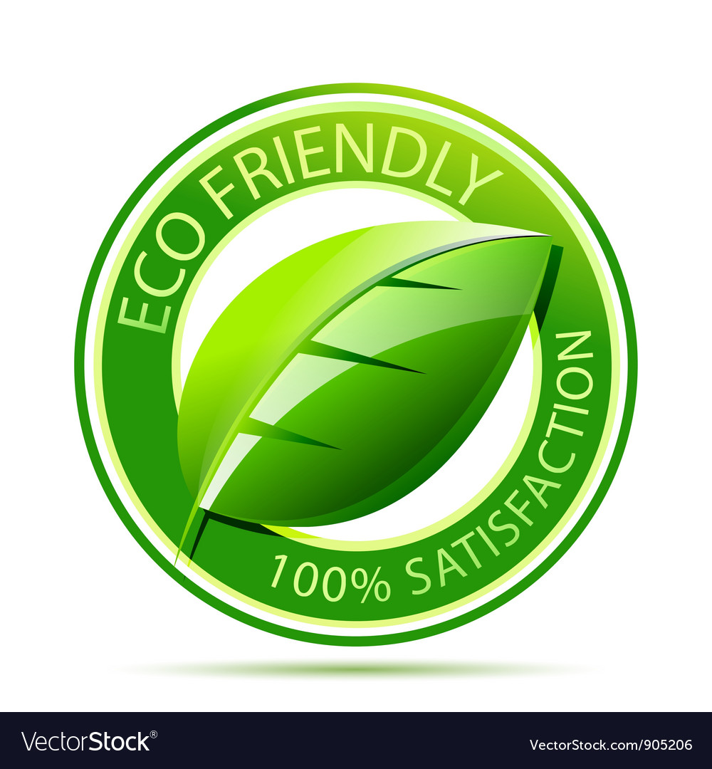 Eco friendly label vector | Price: 1 Credit (USD $1)