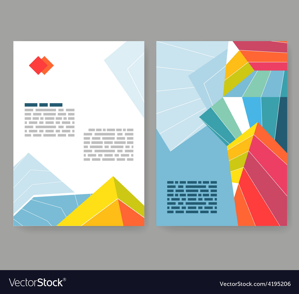 Flyer leaflet booklet layout editable design vector | Price: 1 Credit (USD $1)