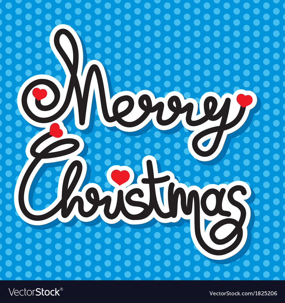 Merry christmas slova1 resize vector | Price: 1 Credit (USD $1)