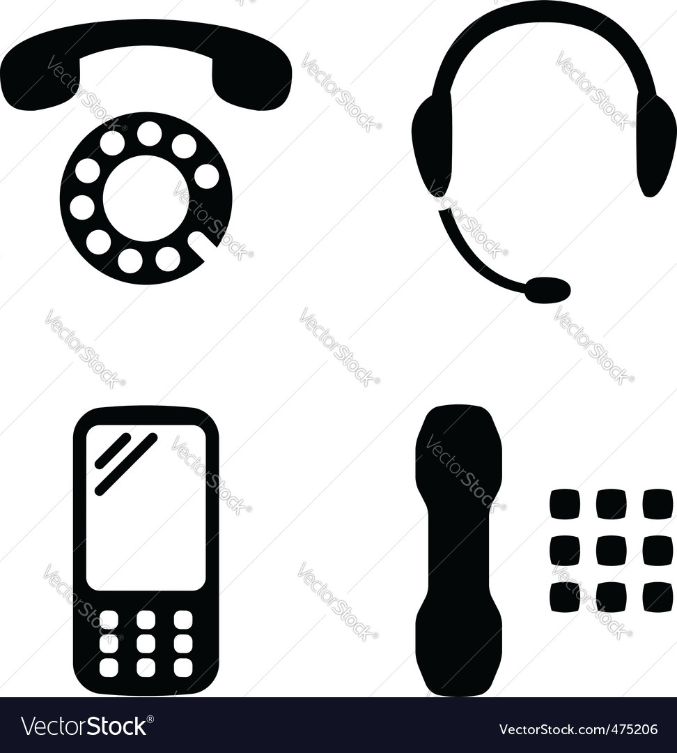 Phone set vector | Price: 1 Credit (USD $1)