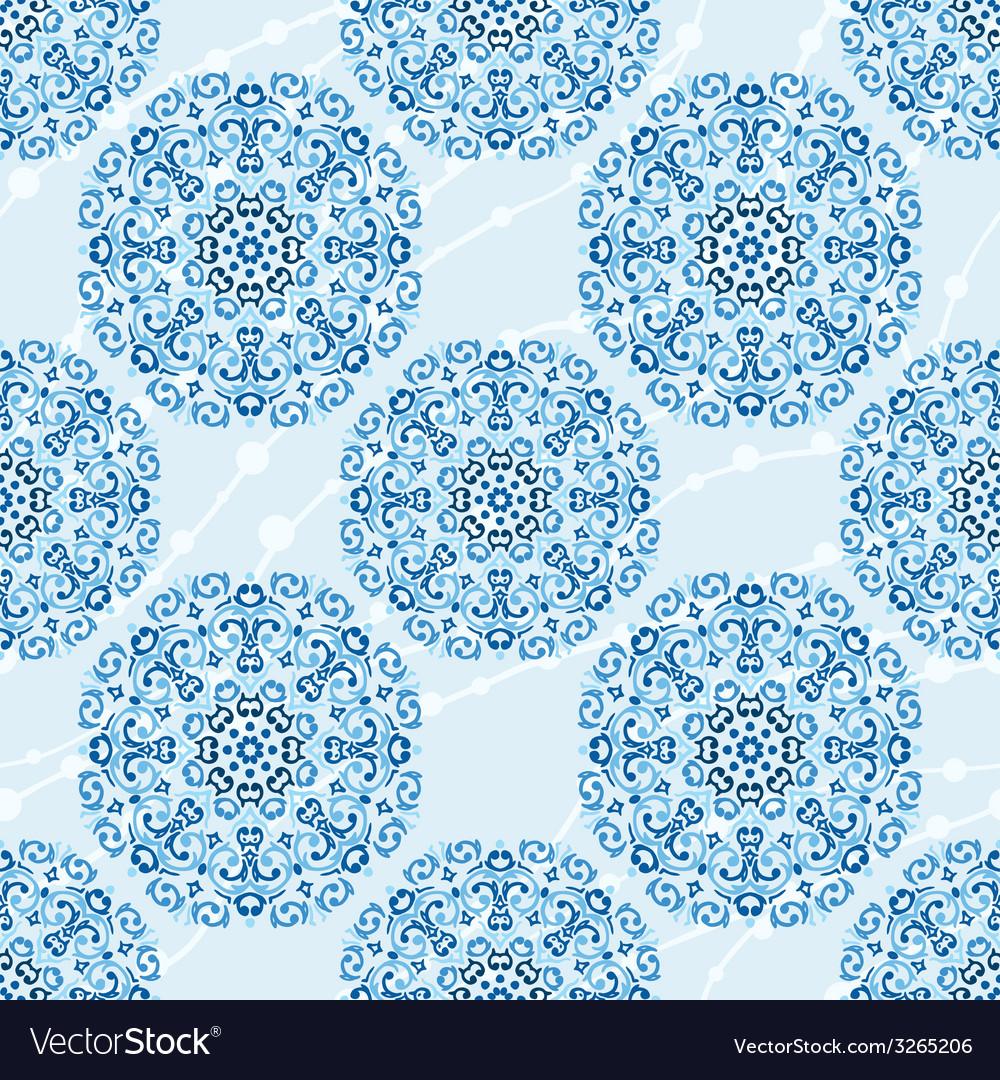 Seamless christmas cute snowflake pattern vector | Price: 1 Credit (USD $1)