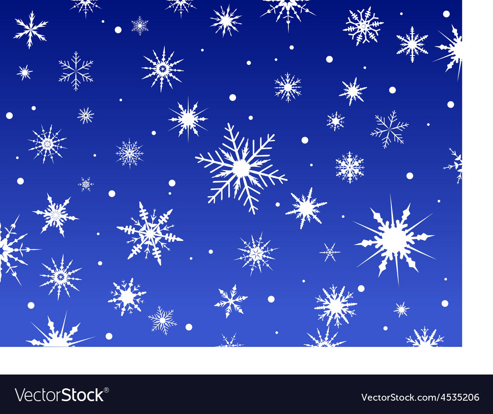 Snowflakes on a blue background 2 vector | Price: 1 Credit (USD $1)
