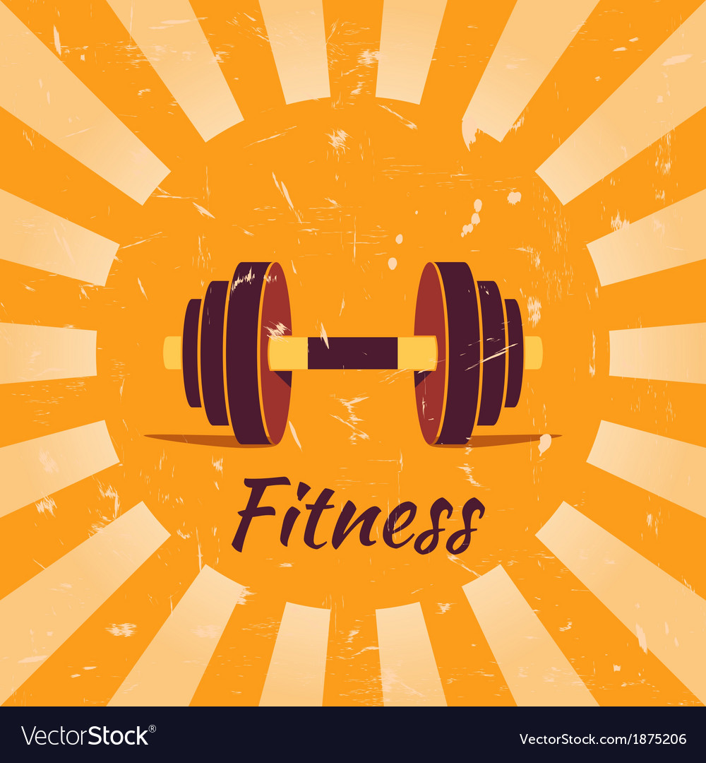 Vintage fitness poster background vector | Price: 1 Credit (USD $1)