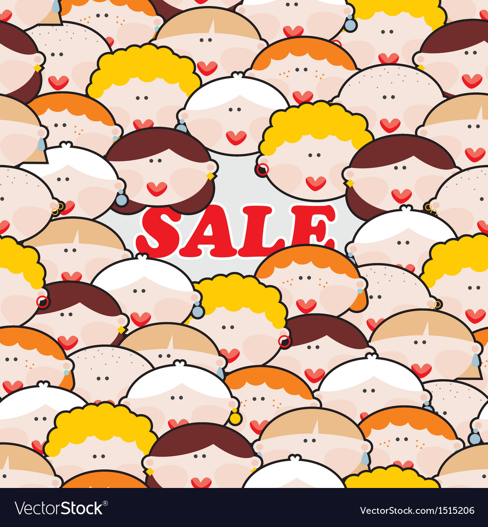 Women and sale vector   Price: 1 Credit (USD $1)