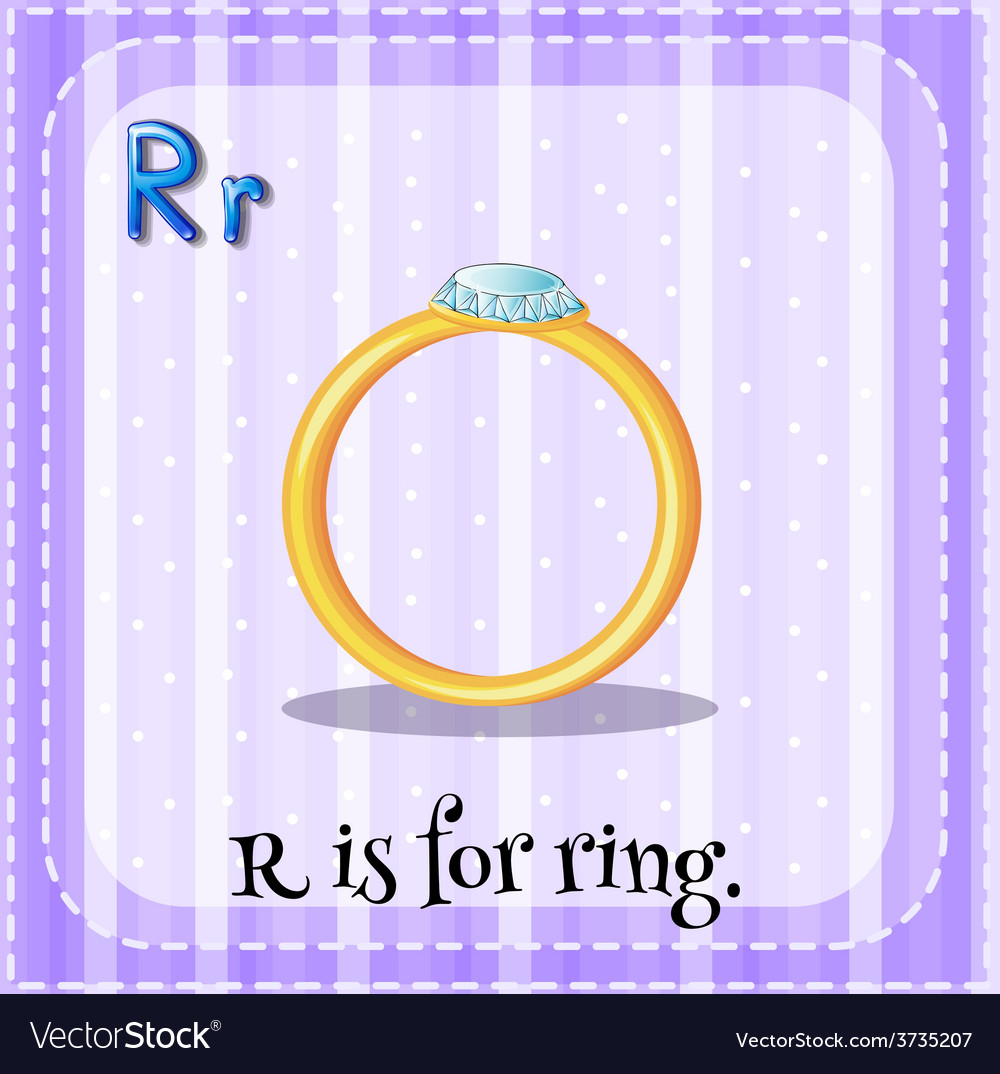 A letter r for ring vector | Price: 1 Credit (USD $1)