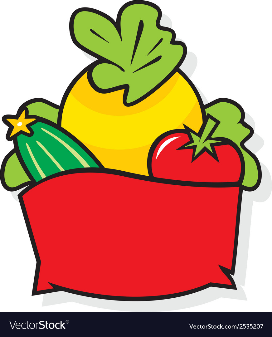 Basket with vegetables vector | Price: 1 Credit (USD $1)