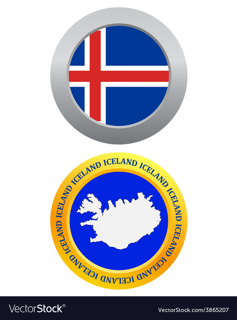 Button as a symbol iceland vector | Price: 1 Credit (USD $1)