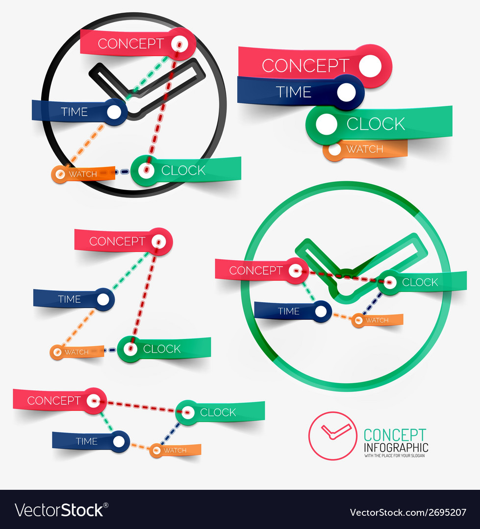 Clock infographic and keywords vector   Price: 1 Credit (USD $1)