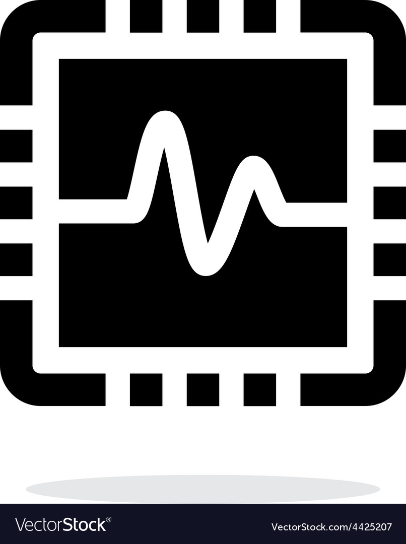 Cpu monitoring simple icon on white background vector | Price: 1 Credit (USD $1)