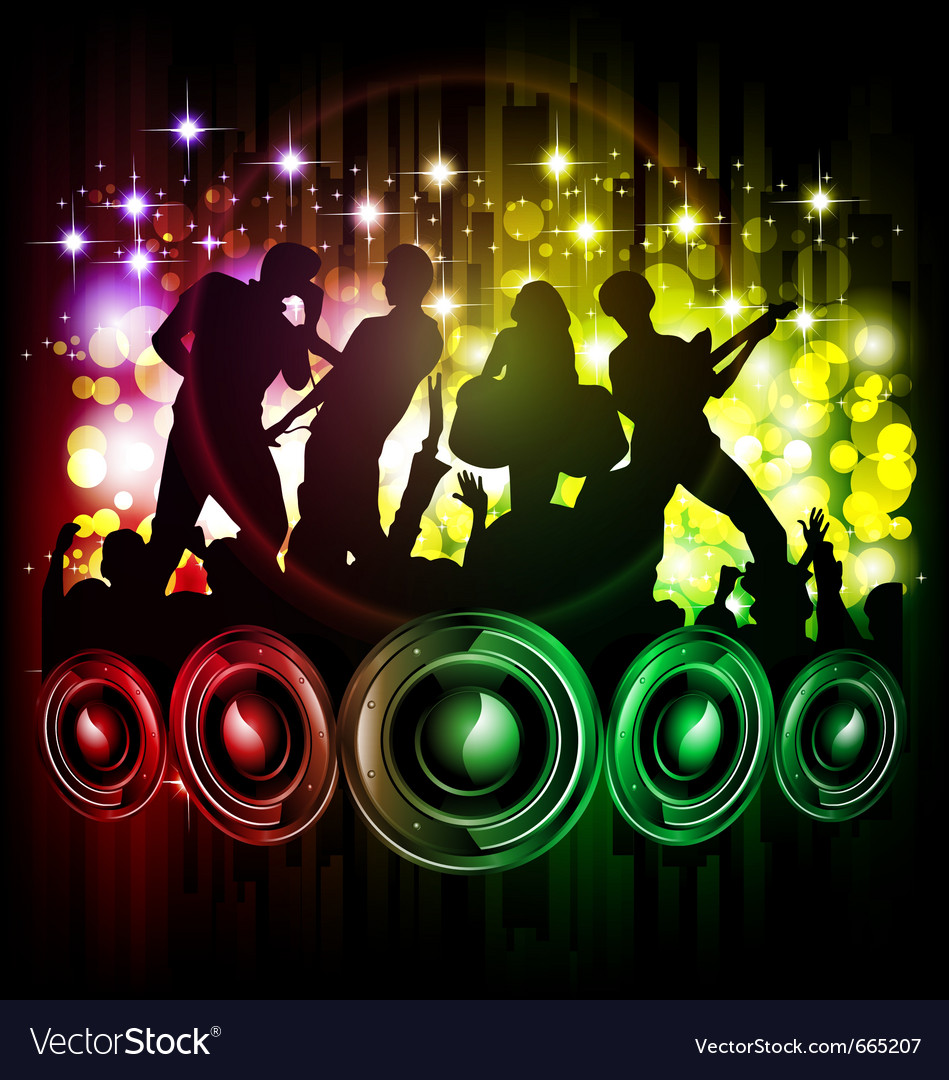 Dance and music vector | Price: 1 Credit (USD $1)