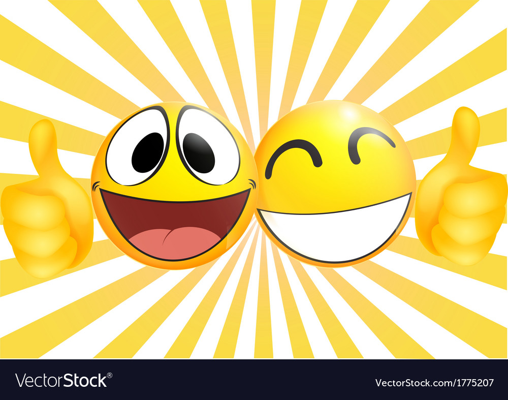Emoticon with thumb vector | Price: 1 Credit (USD $1)
