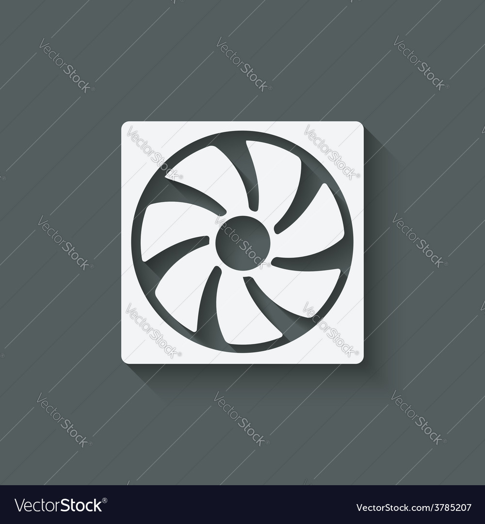 Fan design symbol vector | Price: 1 Credit (USD $1)