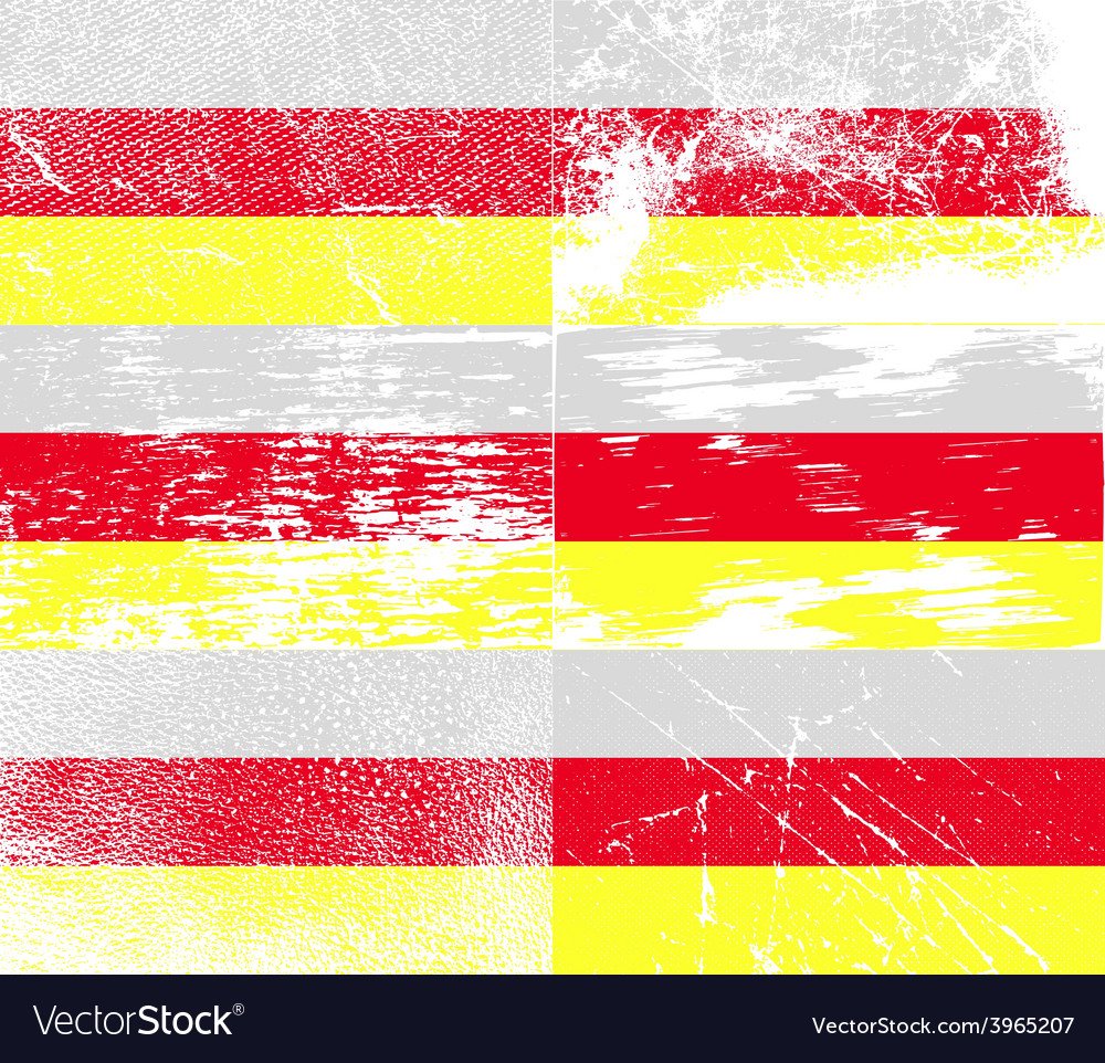 Flag of north ossetia with old texture vector   Price: 1 Credit (USD $1)