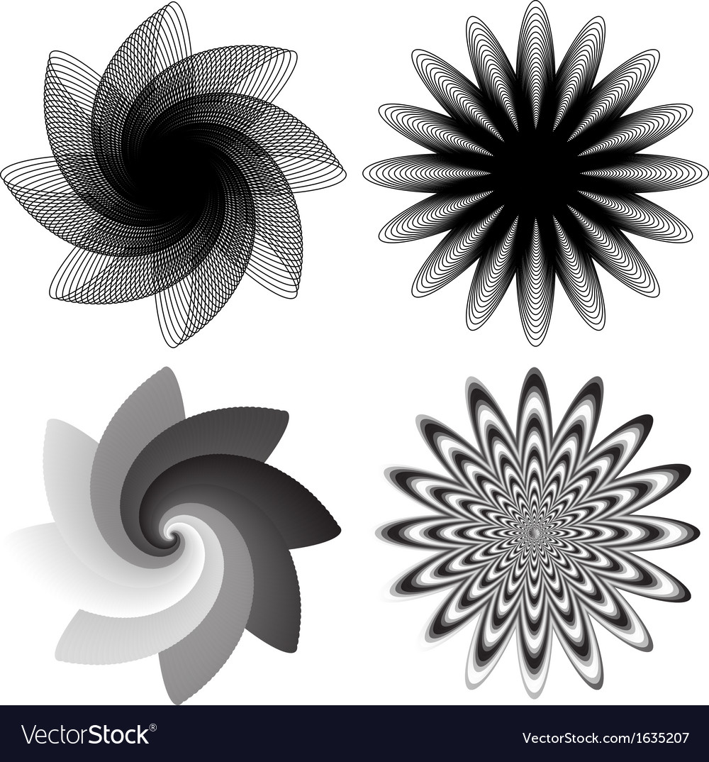 Flower swirls vector | Price: 1 Credit (USD $1)