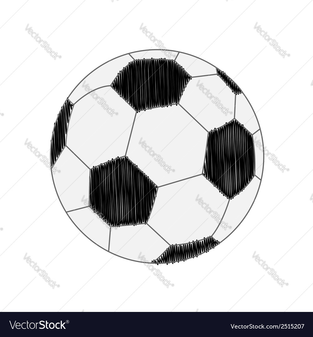 Football soccer ball scribble effect flat design s vector | Price: 1 Credit (USD $1)