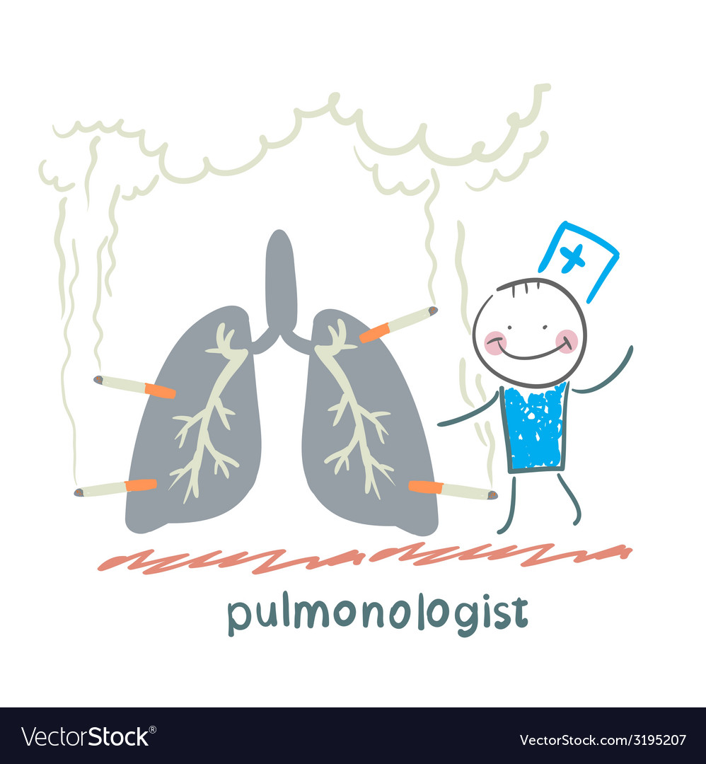 Pulmonologist with light smoker vector | Price: 1 Credit (USD $1)