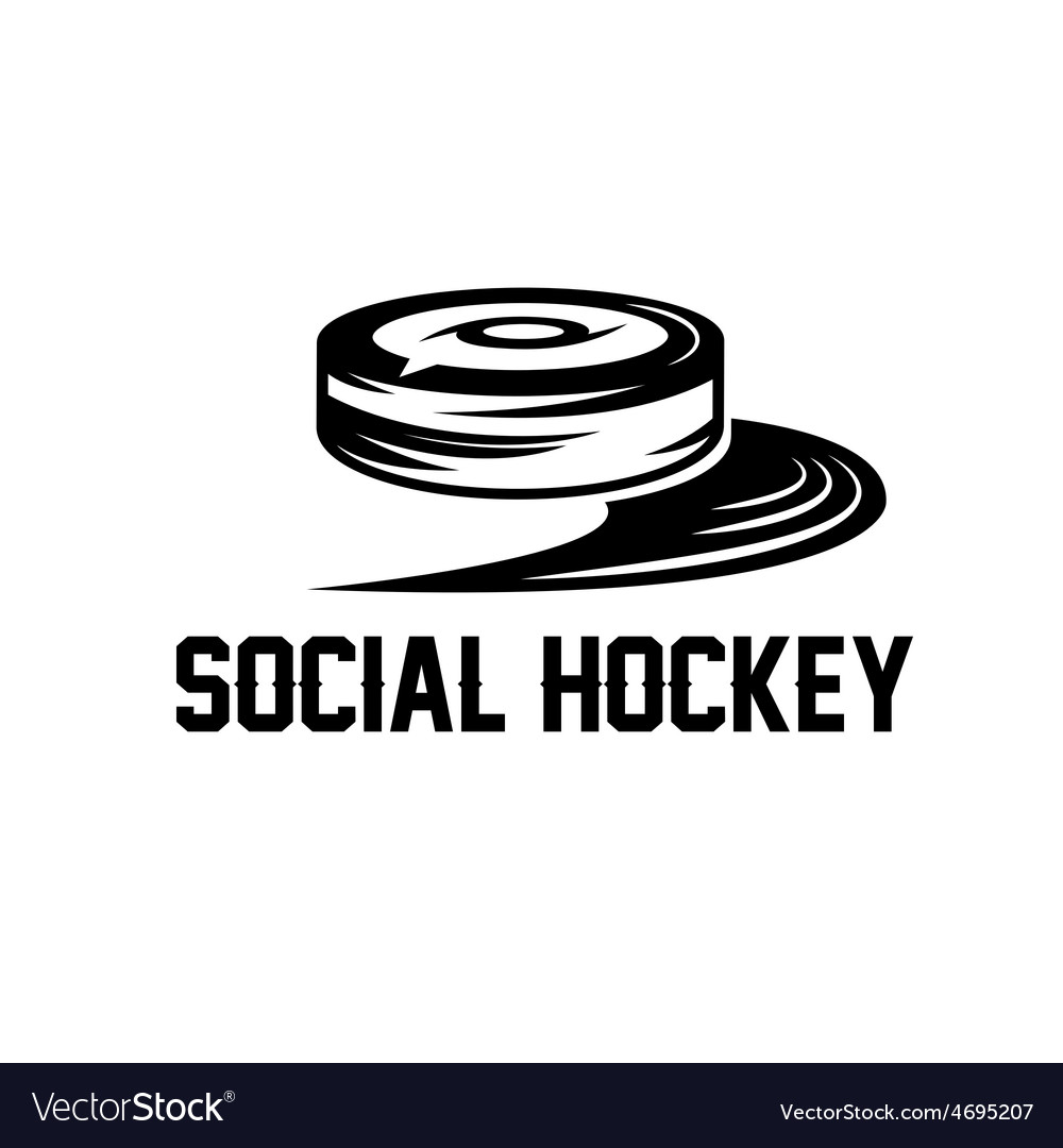 Social hockey design template vector | Price: 1 Credit (USD $1)